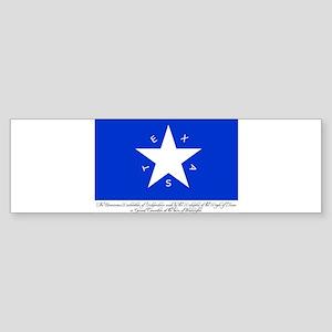 Texas Flag with Declaration Bumper Sticker