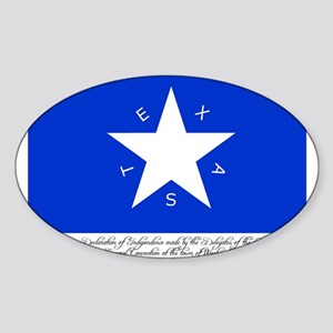 Texas Flag with Declaration Oval Sticker