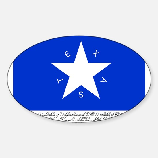 Texas Flag with Declaration Oval Decal
