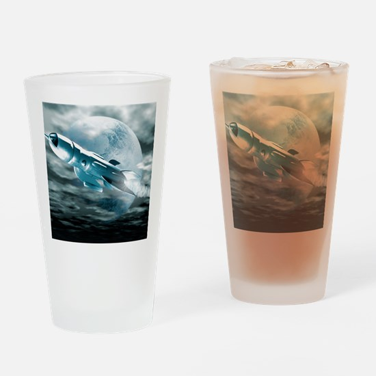 Spaceship Drinking Glass