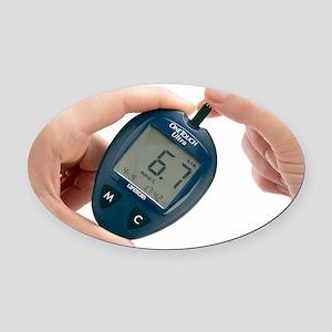 Blood glucose meter Oval Car Magnet