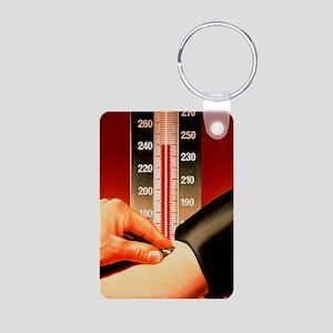 Blood pressure test Aluminum Photo Keychain