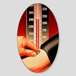 Blood pressure test Sticker (Oval)