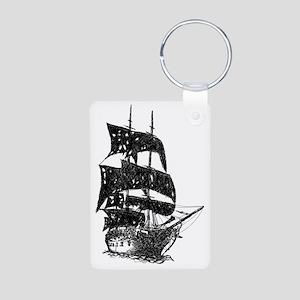 ghost pirate ship Aluminum Photo Keychain