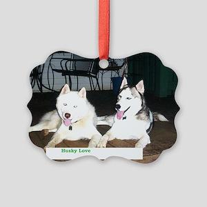 Husky Love Picture Ornament
