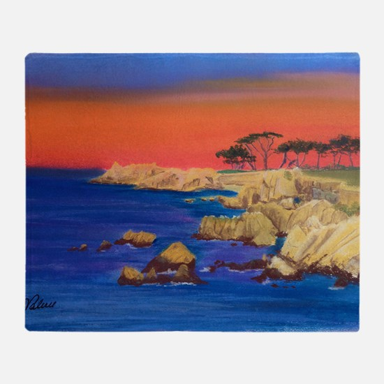 Lovers Point Monterey Throw Blanket