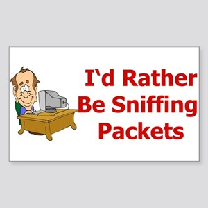 Sniffing Packets Rectangle Sticker