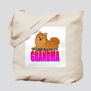 Orange Pomeranian Grandma Tote Bag