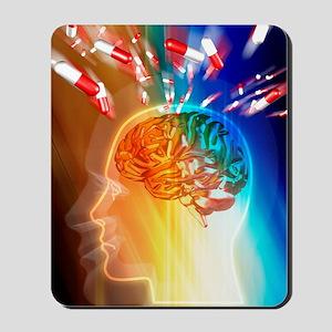 Brain drug Mousepad