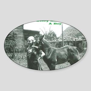 Every Horse Needs a Boy Sticker (Oval)