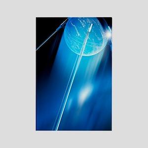Sputnik 1 satellite, computer art Rectangle Magnet