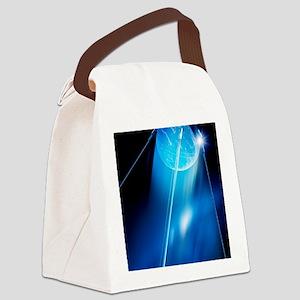 Sputnik 1 satellite, computer art Canvas Lunch Bag