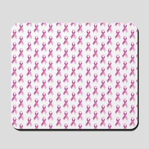 Breast Cancer Awareness Pink Ribbon Mousepad