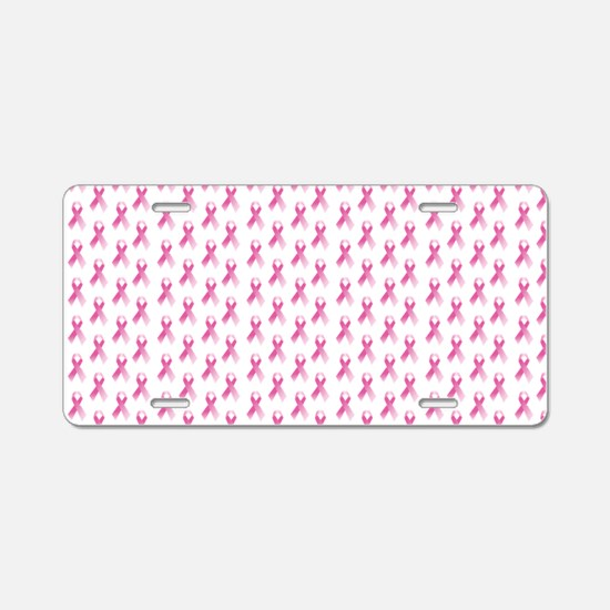 Breast Cancer Awareness Pin Aluminum License Plate