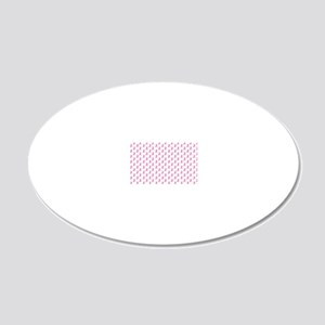 Breast Cancer Awareness Pink 20x12 Oval Wall Decal