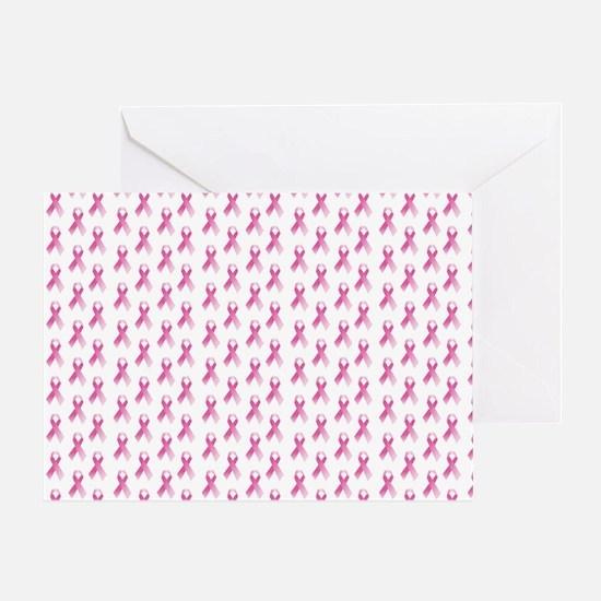 Breast Cancer Awareness Pink Ribbon Greeting Card