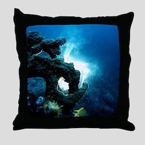 Sponge releasing sperm Throw Pillow