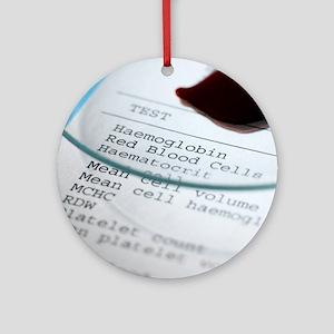 Blood test Round Ornament