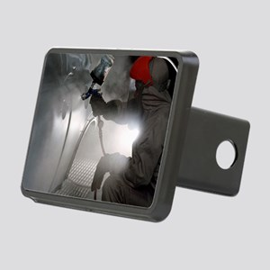 Spray painting a car Rectangular Hitch Cover