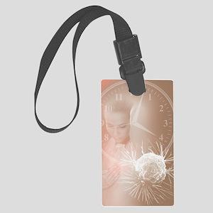 Breast self- examination Large Luggage Tag