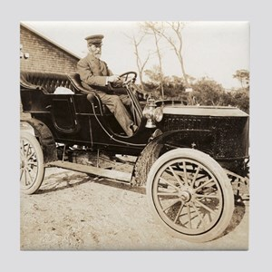 Stanley Steamer car, 1906 Tile Coaster