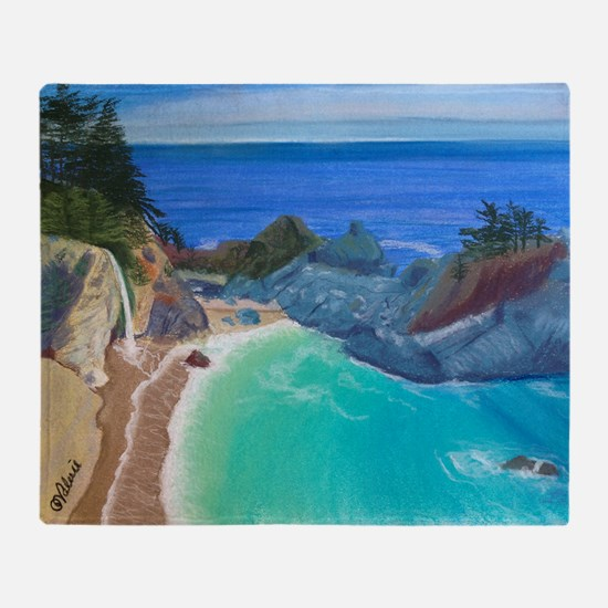 McWay Falls Big Sur Throw Blanket