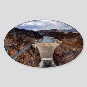 Large Hoover Dam Sticker (Oval)