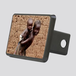 Child carrying a baby Rectangular Hitch Cover