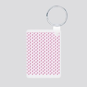 Breast Cancer Awareness Pi Aluminum Photo Keychain