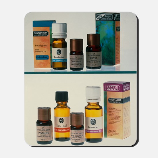 Bottles containing aromatherapy oils in  Mousepad
