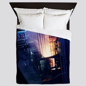 Steel production hall Queen Duvet