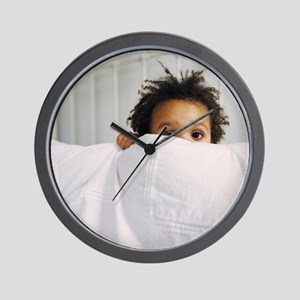 Boy playing Wall Clock