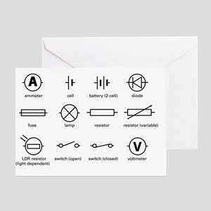 Bs 3939 Schematic Symbols Electrical Electric Cir Stationery - CafePress