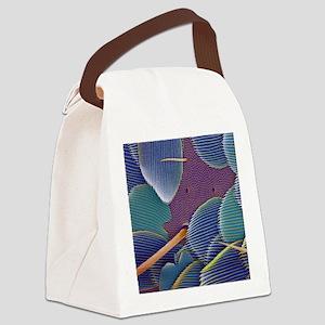 Springtail body surface, SEM Canvas Lunch Bag