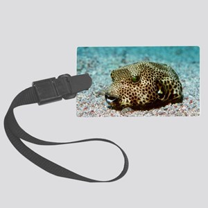 Starry pufferfish Large Luggage Tag