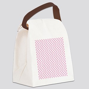 Pink Ribbon Breast Cancer Pattern Canvas Lunch Bag