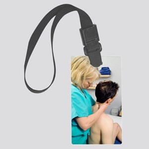 Cervical spine examination Large Luggage Tag