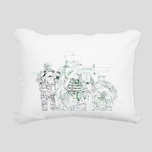 Hardcore Airsoft Rectangular Canvas Pillow