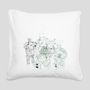 Hardcore Airsoft Square Canvas Pillow