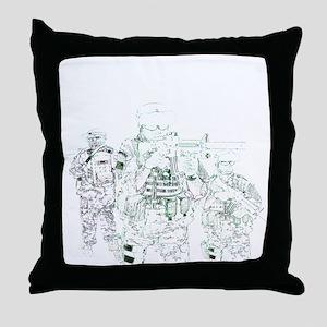 Hardcore Airsoft Throw Pillow