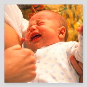 "Breast-feeding: baby's c Square Car Magnet 3"" x 3"""