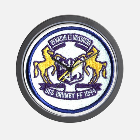 uss brumby ff patch transparent Wall Clock