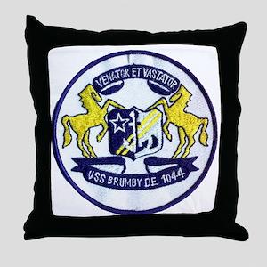 uss brumby de patch transparent Throw Pillow