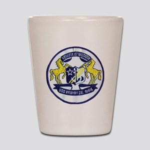 uss brumby de patch transparent Shot Glass