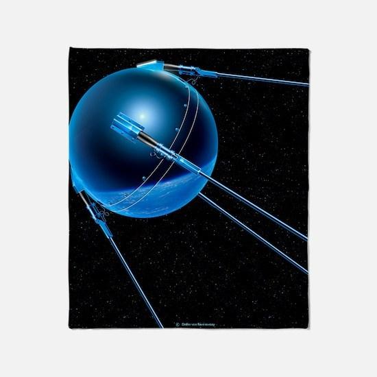 Sputnik 1 satellite Throw Blanket
