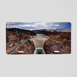 Hoover Dam Aluminum License Plate