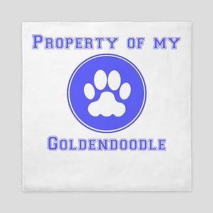 Property Of My Goldendoodle Queen Duvet