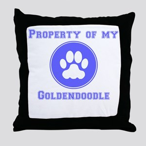 Property Of My Goldendoodle Throw Pillow
