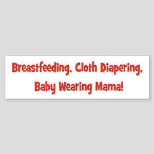 Breatfeeding cloth diapering baby wearing mama-red