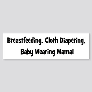 Breatfeeding cloth diapering baby wearing mama-bl